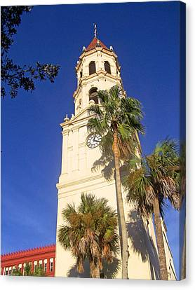 St. Augustine Church Clock Tower Canvas Print by Patricia Taylor