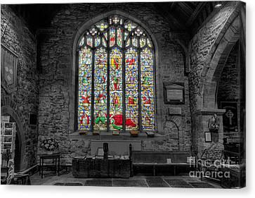 St Dyfnog Window Canvas Print by Adrian Evans