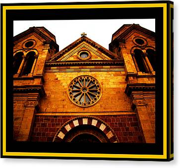 Canvas Print featuring the photograph St. Francis Basilica Cathedral by Susanne Still