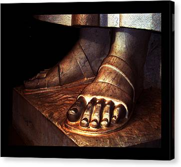Canvas Print featuring the photograph St. Francis Of Assisi's Sacred Feet by Susanne Still