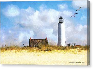 St. George Island Lighthouse Canvas Print by Rhonda Strickland