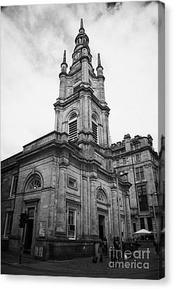Tron Canvas Print - St Georges-tron Church Nelson Mandela Place Glasgow Scotland Uk by Joe Fox