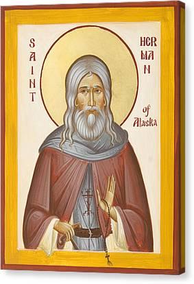 St Herman Of Alaska Canvas Print by Julia Bridget Hayes