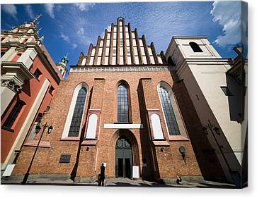 St. John Archcathedral In Warsaw Canvas Print by Artur Bogacki