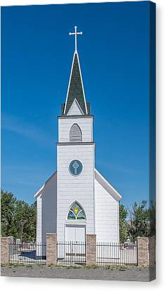 Canvas Print featuring the photograph St. John The Evangelist Catholic Church by Fran Riley