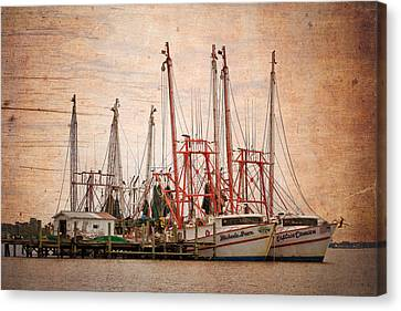 St John's Shrimping Canvas Print by Debra and Dave Vanderlaan