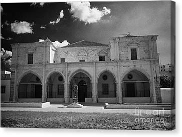 St Josephs Convent And Catholic Church St Joseph De L Apparition Larnaca Republic Cyprus Canvas Print by Joe Fox