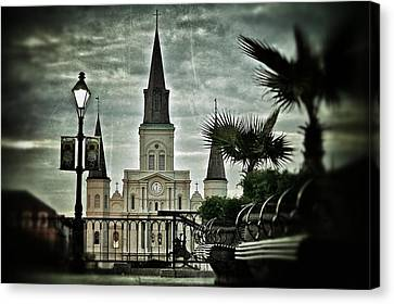 Canvas Print featuring the photograph St. Louis Cathedral by Jim Albritton
