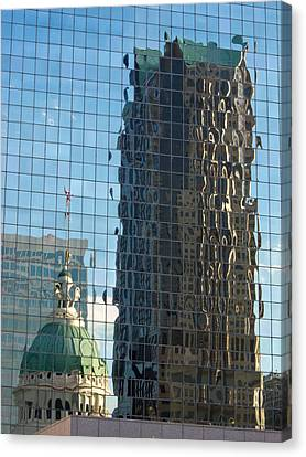 Canvas Print featuring the photograph St. Louis Reflections by Nancy De Flon