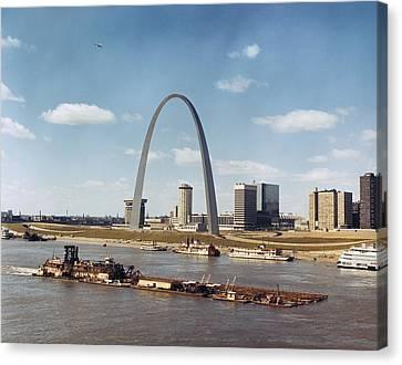 St. Louis: Waterfront Canvas Print by Granger