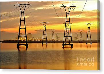 St. Lucie Nuclear Power Plant Canvas Print by Don Youngclaus