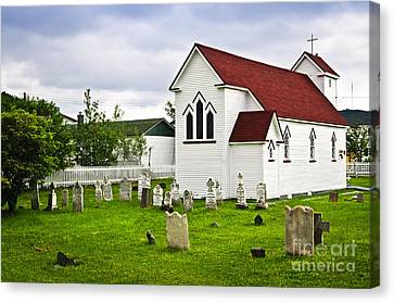 St. Luke's Church In Placentia Newfoundland Canvas Print by Elena Elisseeva