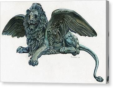 St. Mark's Lion Canvas Print by Francesca Zambon