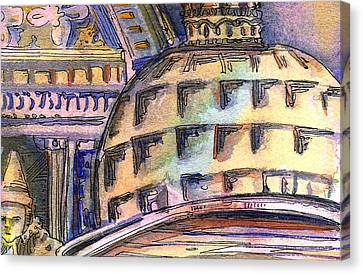 St. Marks Venice Canvas Print by Mindy Newman