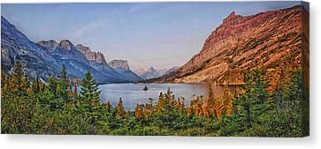 St Mary Lake Canvas Print by Wade Aiken