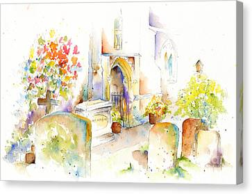 Headstones Canvas Print - St Mary The Virgin Headstones by Pat Katz