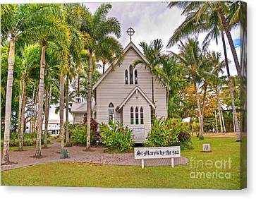 St Mary's By The Sea Canvas Print by Bob and Nancy Kendrick