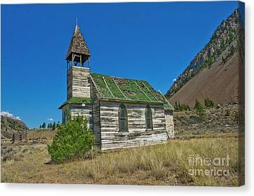 Canvas Print featuring the photograph St. Nicholas Roman Catholic Church At Spahomin by Rod Wiens