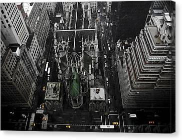 St. Patricks Cathedral Canvas Print by Marcel Krasner