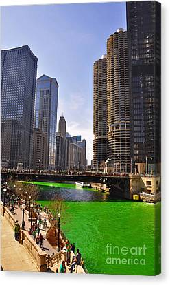 St Patrick's Day Chicago Canvas Print