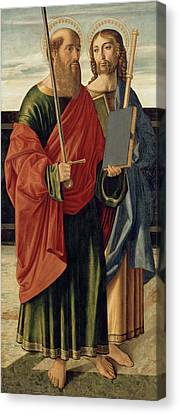 St. Paul And St. James The Elder Canvas Print by Cristoforo Caselli