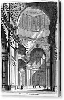 St. Paul's Cathedral, Historical Artwork Canvas Print by Middle Temple Library