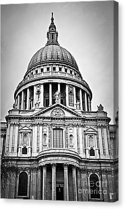 St. Paul's Cathedral In London Canvas Print by Elena Elisseeva