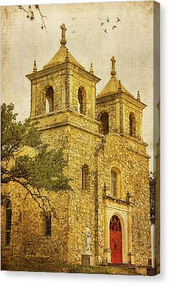 Canvas Print featuring the photograph St. Peter The Apostle Church by Joan Bertucci