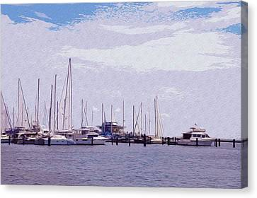 St. Petersburg Marina Canvas Print by Bill Cannon