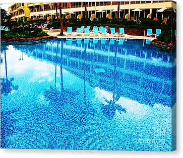 Canvas Print featuring the photograph St. Regis Pool by Michele Penner