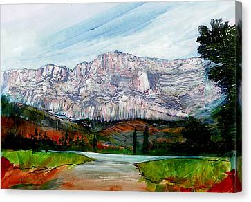 St Victoire Landscape Canvas Print by David Bates