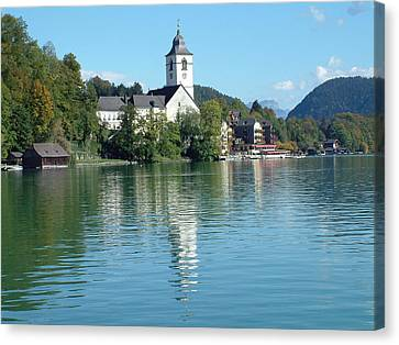 Canvas Print featuring the photograph St Wolfgang Austria by Joseph Hendrix