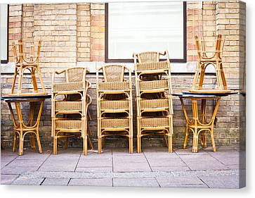 Stacked Chairs Canvas Print
