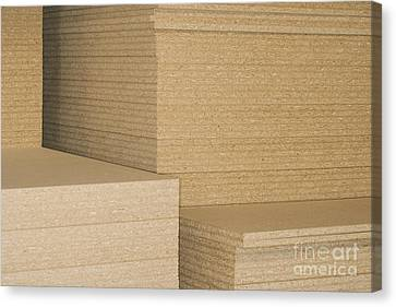 Stacks Of Plywood Canvas Print by Shannon Fagan