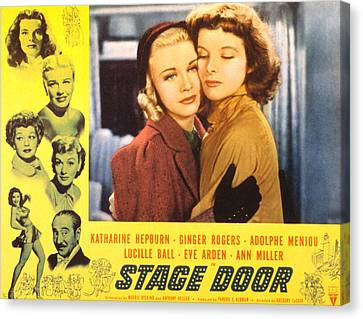Stage Door, Ginger Rogers, Katharine Canvas Print by Everett