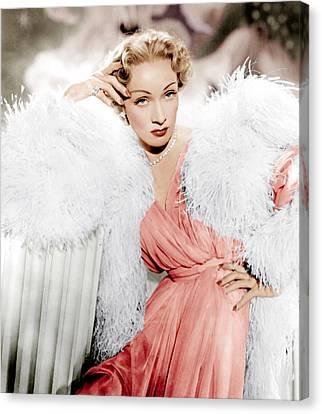 Stage Fright, Marlene Dietrich Wearing Canvas Print by Everett