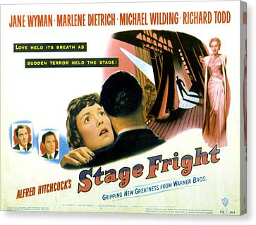 Stage Fright, Michael Wilding, Richard Canvas Print by Everett