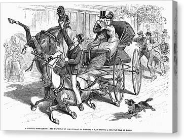 Stagecoach Accident Canvas Print by Granger