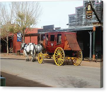 Stagecoach Canvas Print by Helen Haw