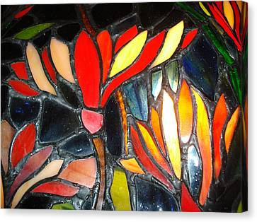 Stained Glass Four Canvas Print