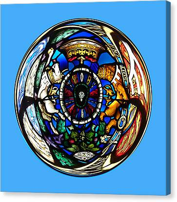 Stained Glass In The Sphere Canvas Print by Robert Gipson