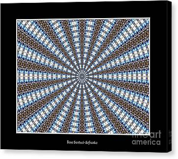 Stained Glass Kaleidoscope 32 Canvas Print by Rose Santuci-Sofranko