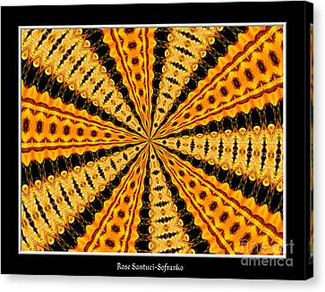 Stained Glass Kaleidoscope 37 Canvas Print by Rose Santuci-Sofranko