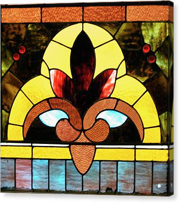 Stained Glass Lc 07 Canvas Print by Thomas Woolworth