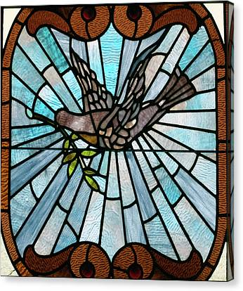 Stained Glass Lc 14 Canvas Print by Thomas Woolworth
