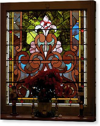 Stained Glass Lc 17 Canvas Print by Thomas Woolworth