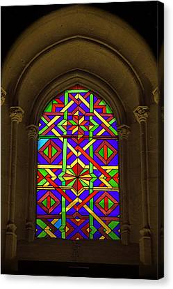 Stained Glass Window In Mezquita Canvas Print by Artur Bogacki