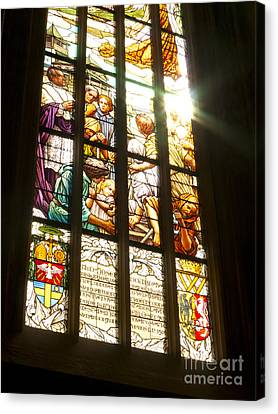 Stained Glass Window Canvas Print by Michal Boubin