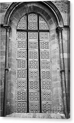 stained glass windows replaced by decorated bricks Selimiye mosque formerly saint sophia cathedral Canvas Print by Joe Fox
