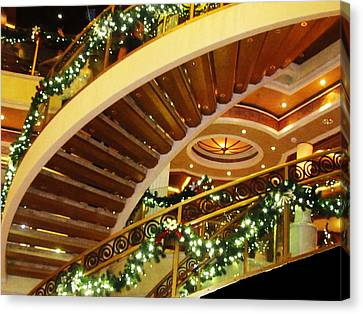 Stair Abstract Canvas Print by Vijay Sharon Govender